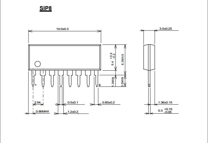 开路集电极输出 ●大输出灌电流 (15ma @ 2403) ●封装 (dip8/dmp8