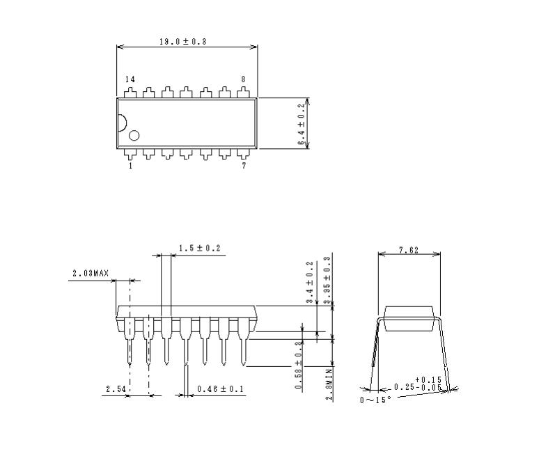 带频率特性 (0db时一般为50mhz) ●内置6db放大器 ●内置75Ω驱动电