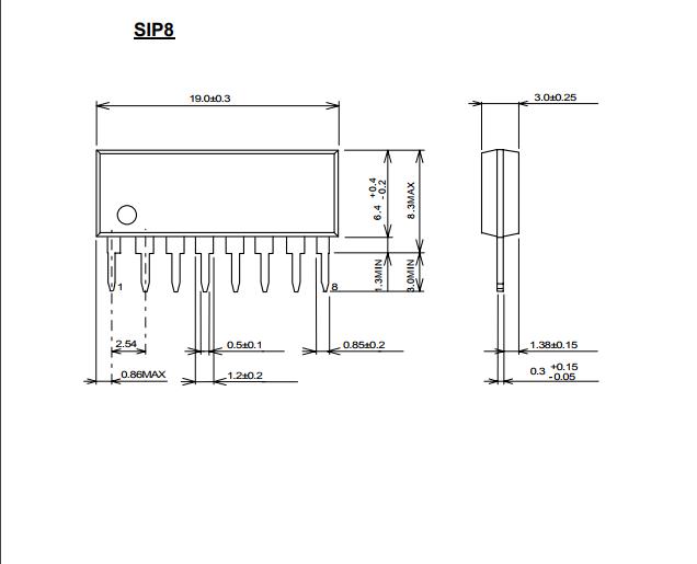 单电源工作 ●输出失调电压自动设定 ●双极技术 ●封装 (dip8,sip8